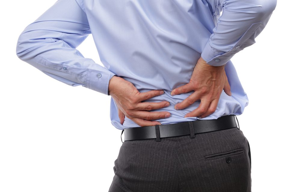 Can back pain be a symptom of lack of drinking water?